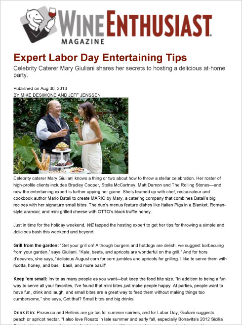 Expert Labor Day Entertaining Tips